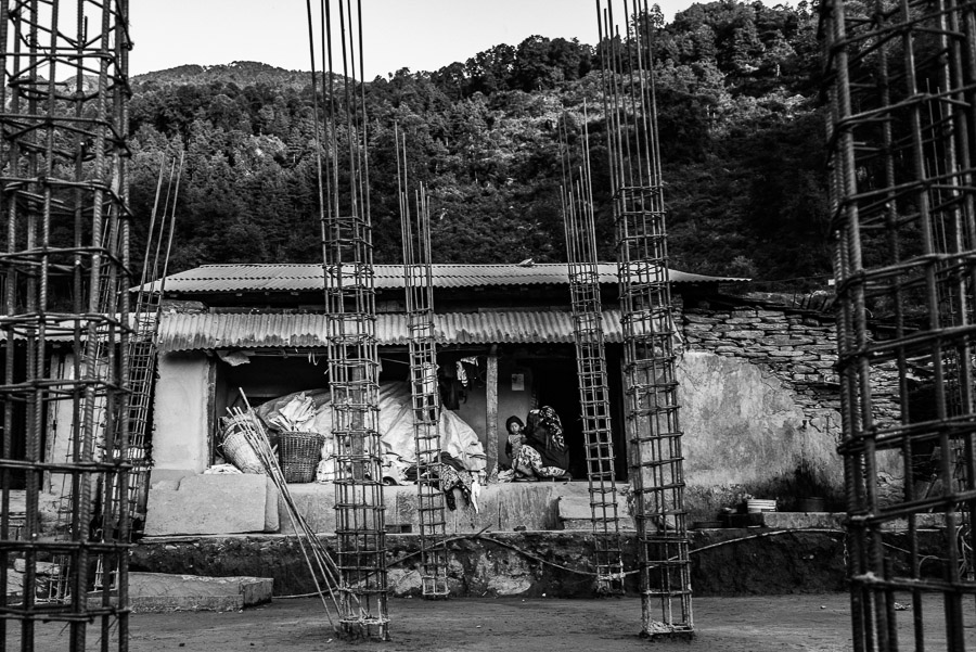 After more than year and a half, the residents of Barpak are still living in temporary shelters.