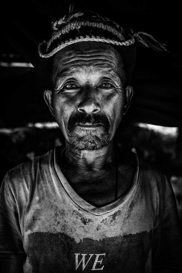 Gan Bahadur Gurung a 63-year old resident of Baluwa, in Gorkha District; the earthquake took his wife.