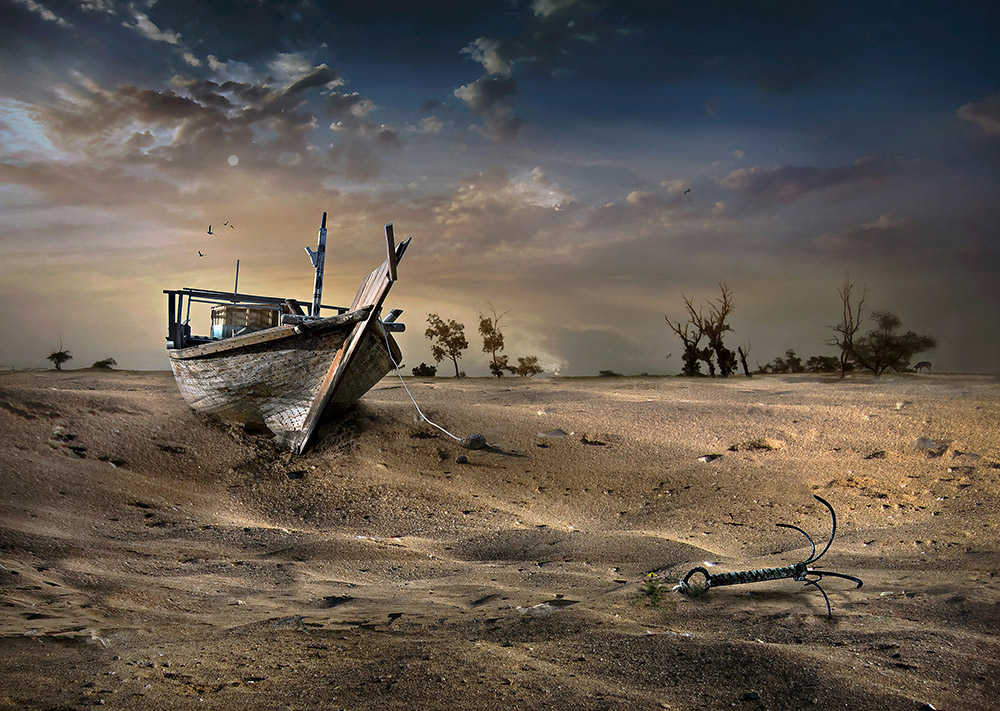 Ship in the desert | Photo manipulation | Sulaiman Almawash