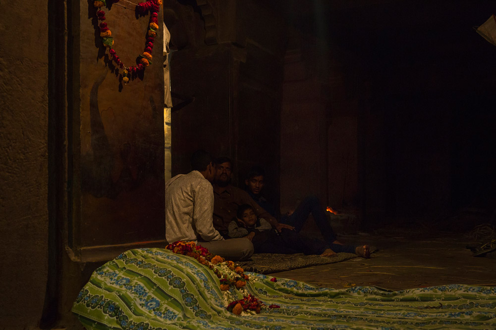 As the fire burns on the pyre, the bed for the woman will never be the same again. As per the Hindu tradition, the bed has a special symbolic presence in a death.