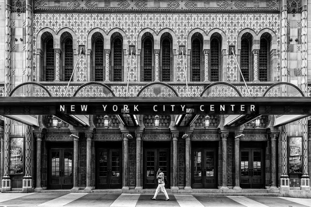 New York City Center is a 2,257-seat Moorish Revival theater located at 131 West 55th Street between 6th and 7th Avenues in Manhattan, New York City. It is one block south of Carnegie Hall.