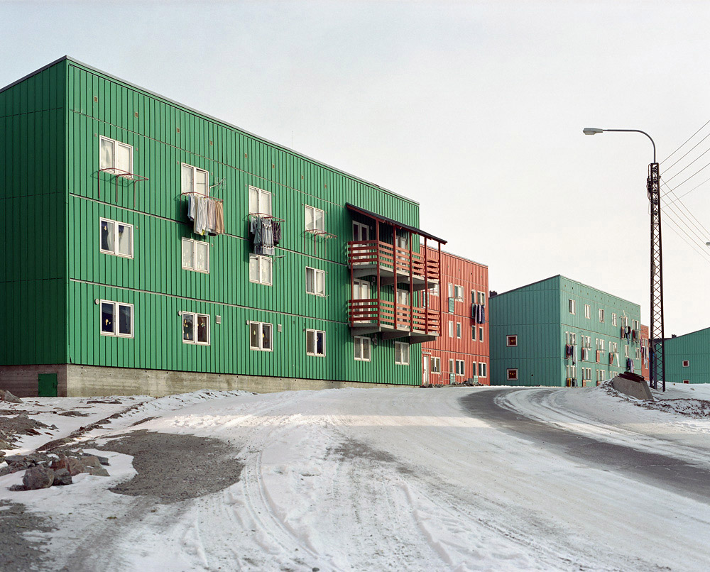"The largest cities have their own ""housing proj- ects"", which were built in the 1960s by the Danish government to reduce supply costs by grouping the population. This also marks the beginning of a ""rural exodus"" and the progressive disappearance of smaller villages. For many Inuits, this lack of privacy symbolizes an affront to their civilization."