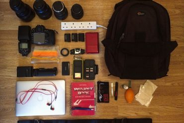 Inside the camera bag of Marcello Perino
