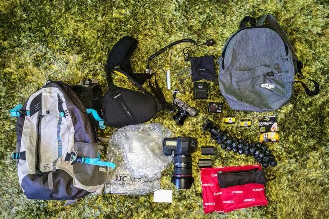 Inside the camera bag of Marcello Perino