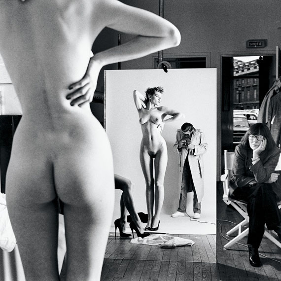 Helmut Newton: Self-Portrait with Wife and Models, Vogue Studio, Paris 1981 © Helmut Newton Estate