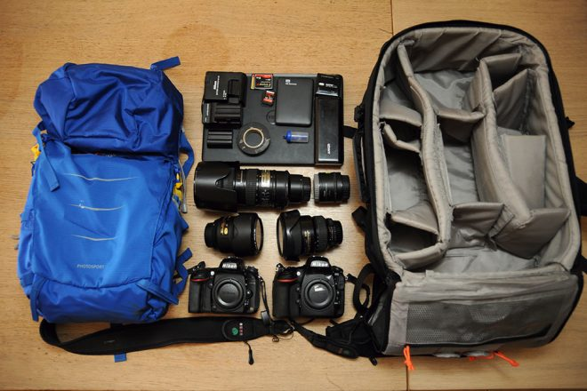 Inside the camera bag of Gili Yaari