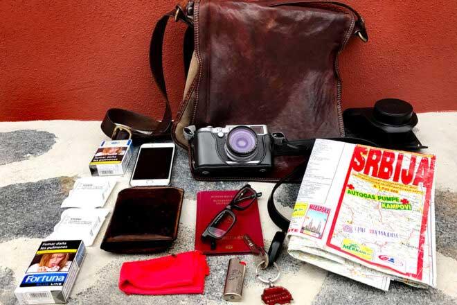 Inside the camera bag of Oliver Weber