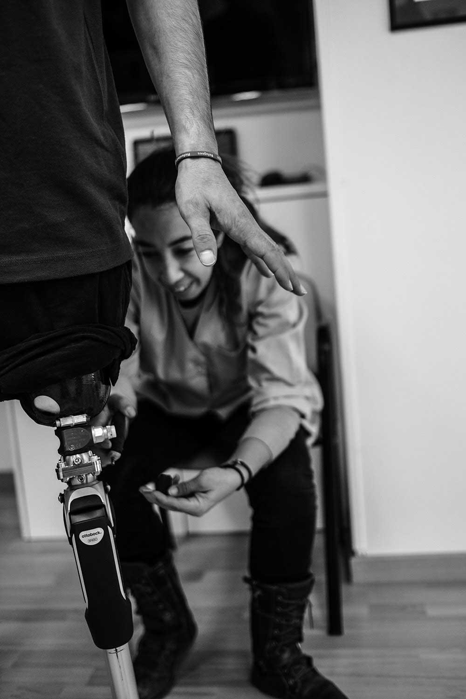 One leg for Mustafa by Xavier Bertral