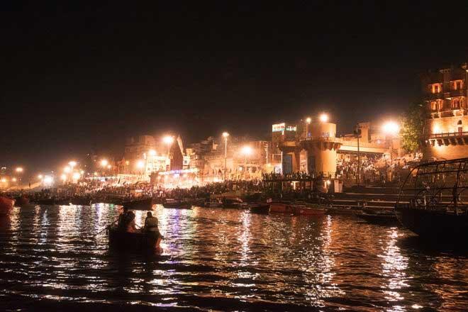 Varanasi Ganga Aarti by Abhijit Bose