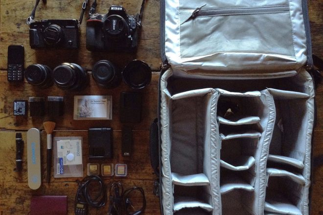 Inside the camera bag of Jorge Fernandez