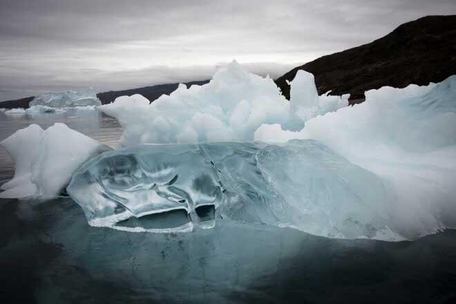 Eqi Glacier, Western Greenland by Andrea Sparrow