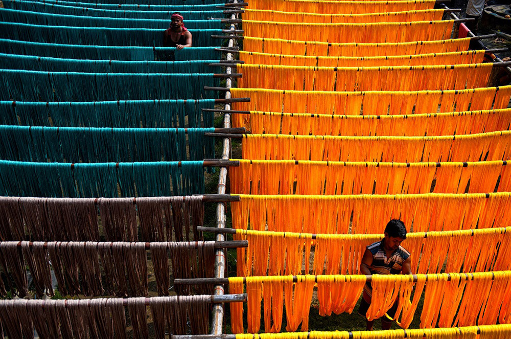 Preparation of Indian Traditional Dress – Saree By Avishek Das