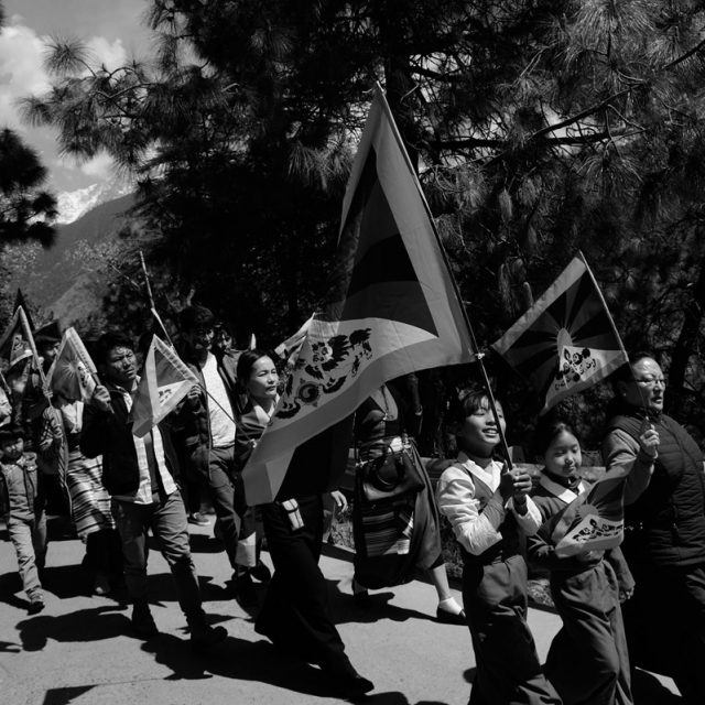 Joydip Mitra ; A Long March—Uprising Day celebration of the exiled Tibetans, in India
