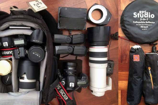 Inside the camera bag of Aga Szydlik