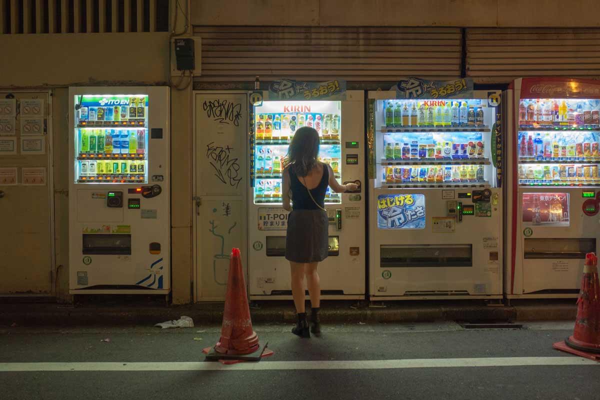 Vending machines open all night by Yoshitaka Masuda | Dodho