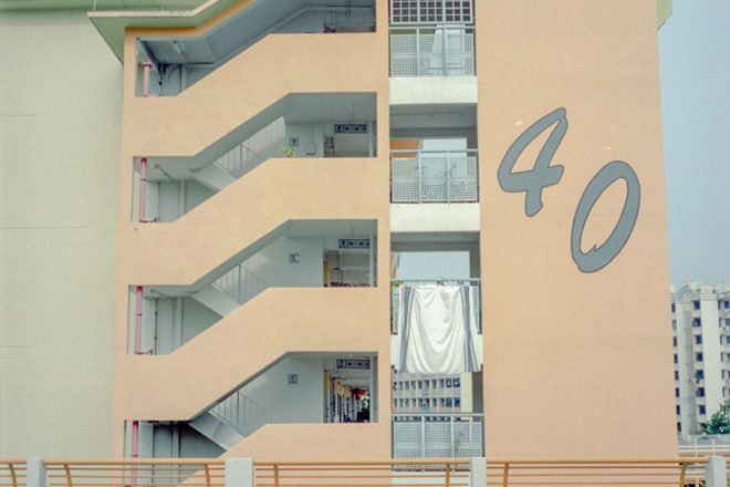 Old Public Housing In Their Pastel Hue by James Teo