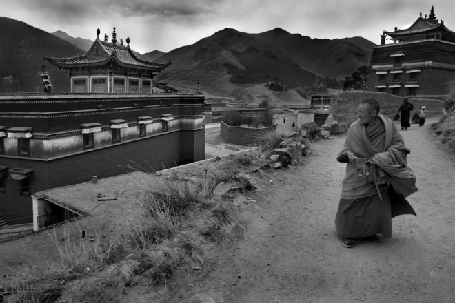 Vanishing Faces Tibet by Larry Louie
