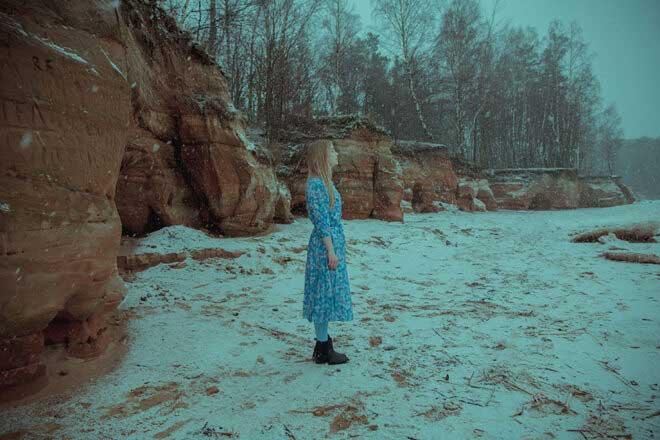 Veczemju cliffs by Jelena Osmolovska