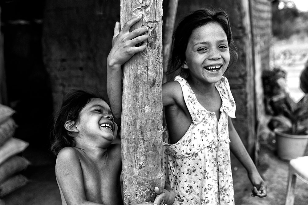Marcilene's daughters, Cachoeira indigenous village