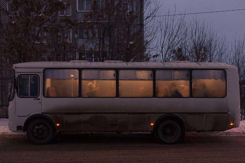 Visually impaired : The street of the blind by Alena Shilonosova