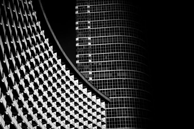 Positive and negative : Urban Abstract by Jim Riche
