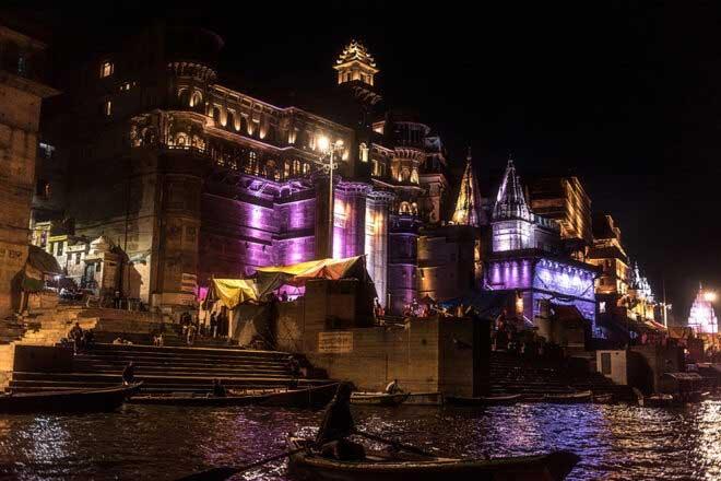 Varanasi Ghats-Glitterati and Noir by Abhijit Bose