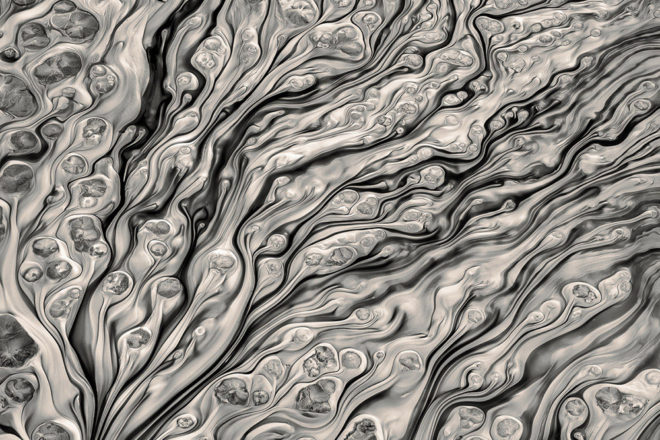 Glacial Silt Patterns by Hal Gage