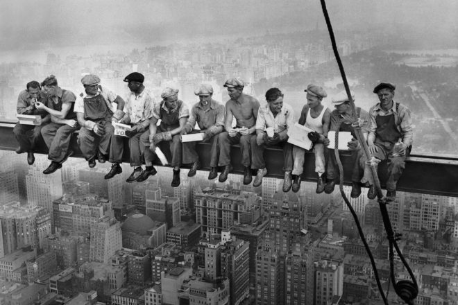 Lunch atop a skyscraper: The mysterious photo that portrays the resilience of a country