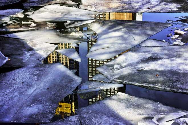 River ice by Steve Geer