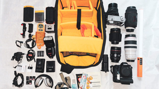 Inside camera bag of Svetlin Yosifov