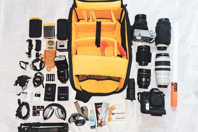 Inside camera bag of Svetlin Yosifov