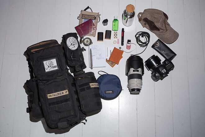 Inside camera bag of Fallckolm Cuenca