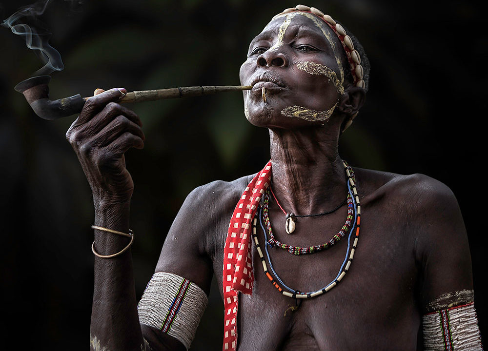 South Sudan; Smoker women by Ana Maria Robles