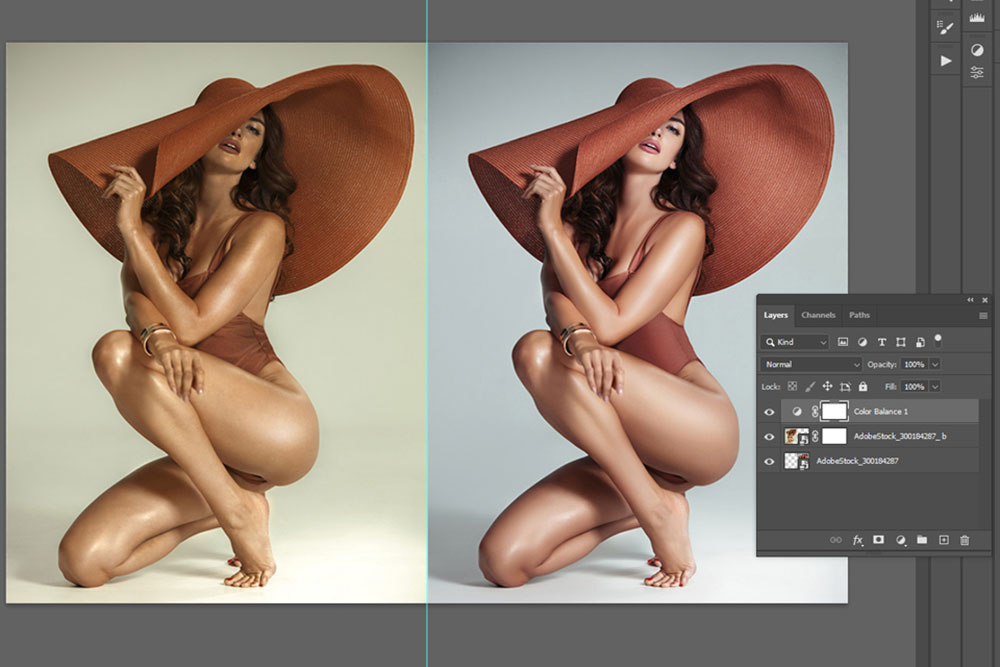 hue saturation in nude editing